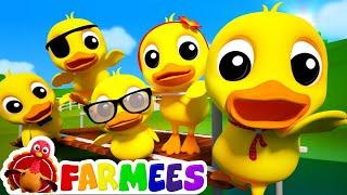 5 Little Ducks | 3d Nursery Rhymes For Kids | Baby Songs | Childrens Music Video by Farmees