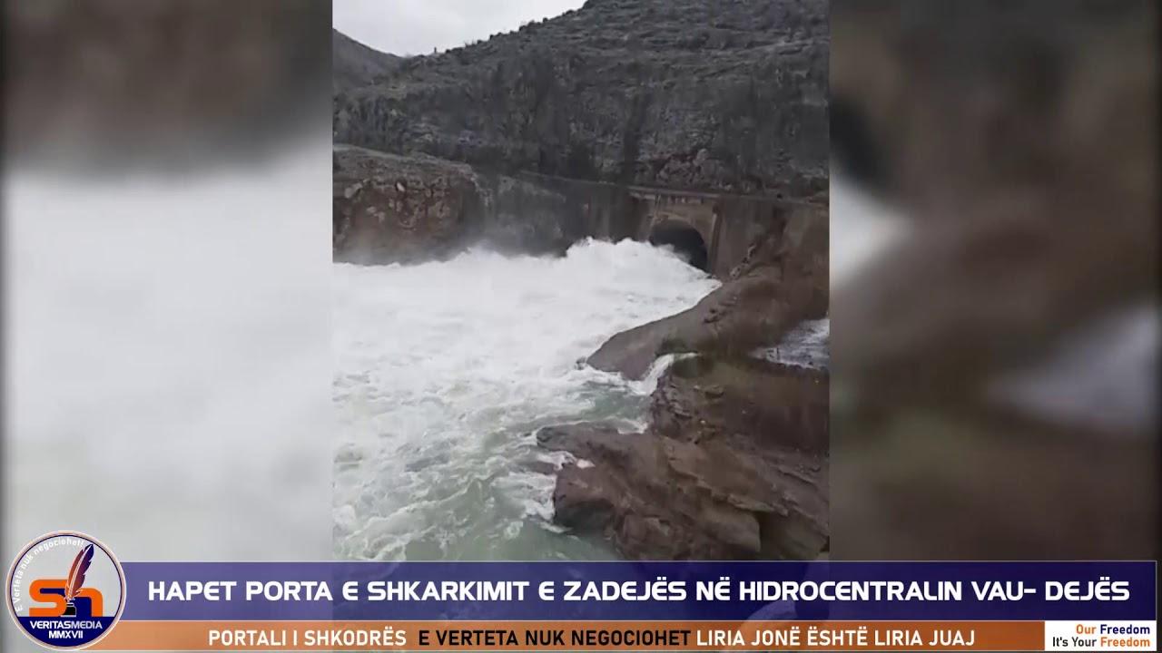 ShkodraWeb I HEC Vau Dejës hap portën e shkarkimit në Zadejë, rritet niveli u ujit në Nënshkodër