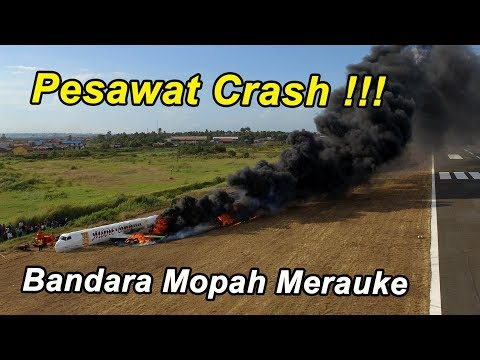 Crash di Bandara Mopah merauke (Maro Air)