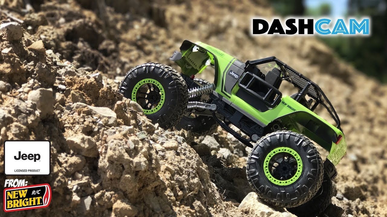 New Bright 1:14 R/C DashCam, Jeep Trailcat