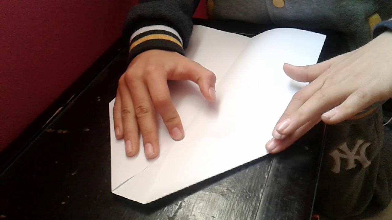 Tuto origami comment faire le magnifique avion en papier youtube - Tuto avion en papier ...