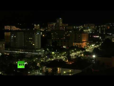 Images de l'île de Guam, dont Pyongyang menace de cibler la base américaine