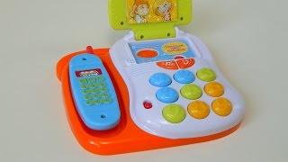 Телефон игрушка - Развивающие игрушки для детей(Видео обзор игрушечного телефона для детей. Это детская развивающая игрушка с функцией записи и воспроизве..., 2015-09-06T20:27:45.000Z)