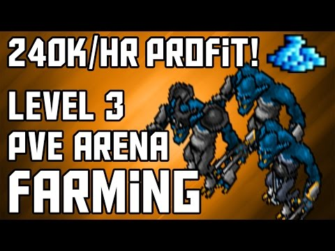 [Moneymaking Guide] Level 3 Tibia PvE Arena Farming | 240K/HR PROFIT!!