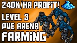 [Moneymaking Guide] Level 3 Tibia PvE Arena Farming | 240K/HR PROFIT!!