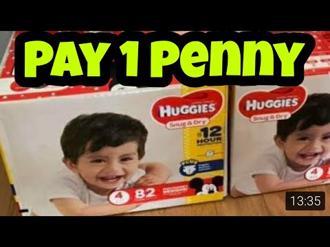 Huggies Diapers Have Pennied At Dollar General