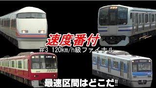 速度番付 #3 120km/h級ファイナル(Speed ranking)【最速区間はどこだ!!】