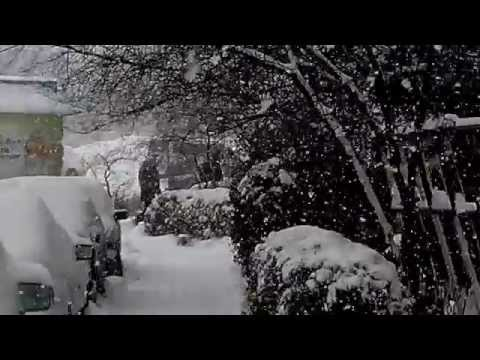 snowfall in Bishkek 2014 12 07