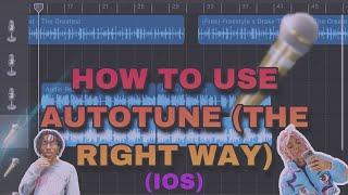 How To Use AutoTune On Garageband (ios)