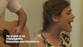 Violetta en Vivo: Tini prepara su voz