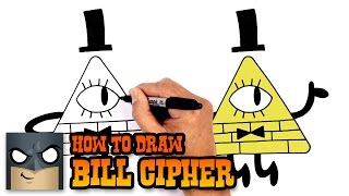 How to Draw Bill Cipher | Gravity Falls