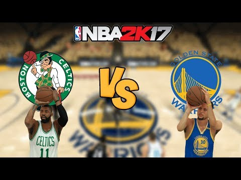 NBA 2K17 - Boston Celtics KYRIE! vs. Golden State Warriors CURRY! - Full Gameplay (Updated Rosters)
