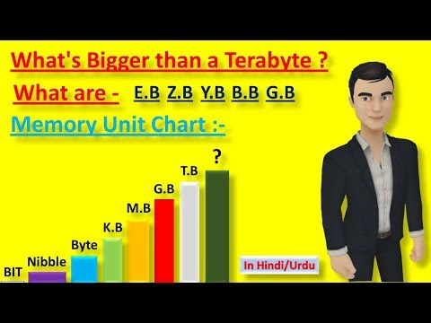 What's Bigger than a terabyte | What Are KB,MB,GB,TB (in hindi)