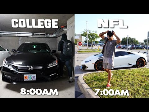 Day In The Life: NFL vs College Football