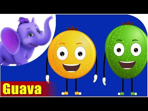 Guava Fruit Rhyme for Children, Guava Cartoon Fruits Song for Kids