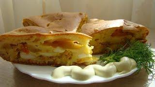 простой рецепт пирога с яйцами нежный