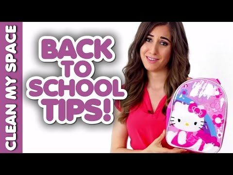 10 Back-to-School Cleaning & Organizing Tips! (Clean My Space)
