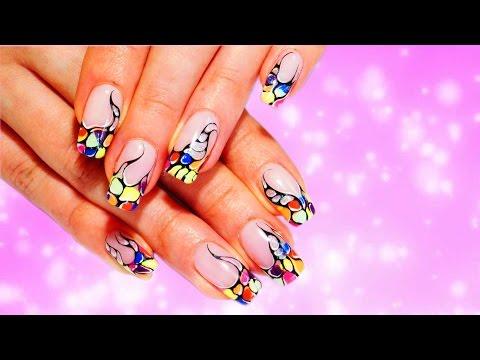Ногти разноцветные дизайн