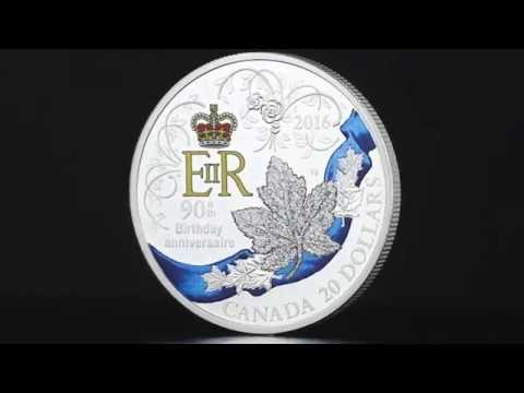 The Queen's 90th Birthday 1oz Silver Proof Coin