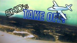 EXO Takes To The Sky! | Onboard The AirPlane Taking Off To Daytona Beach Florida