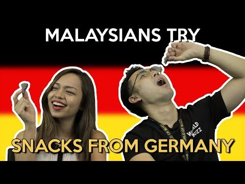 Malaysians Try Snacks from Germany