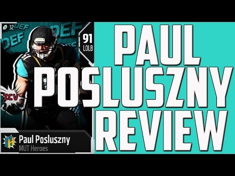 HOW GOOD IS MUT HERO PAUL POSLUSZNY? - MUT 18 CARD REVIEW