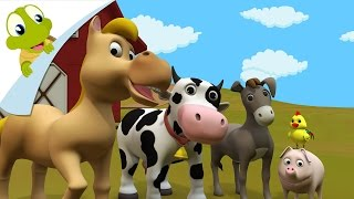 3D Farm Animals and their sounds  | Learn Domestic Animals Sounds