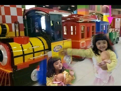 Train rides For Kids ❤ Oki & boneka bayi naik kereta api ❤ naik kereta & lagu anak naik kereta api