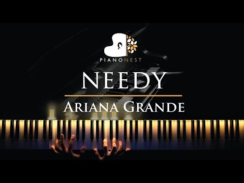 Ariana Grande - needy - Piano Karaoke  Sing Along Cover with