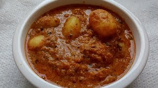 How to make/prepare dum aloo without onion and garlic.