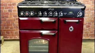 Rangemaster Classic Deluxe 90 vörösáfonya/króm