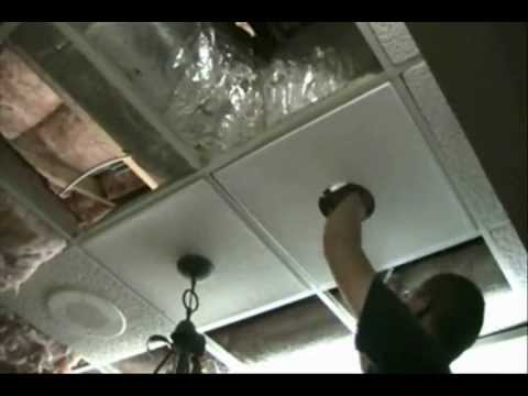 Light Installation In A Ceiling Tile Youtube