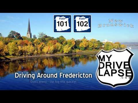 A Drive around Fredericton, New Brunswick Dashcam