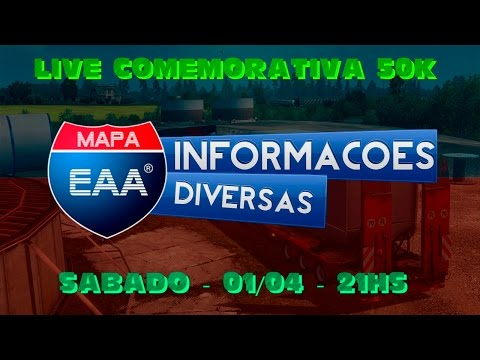 LIVE COMEMORATIVA - 50K CANAL EAA GAMES