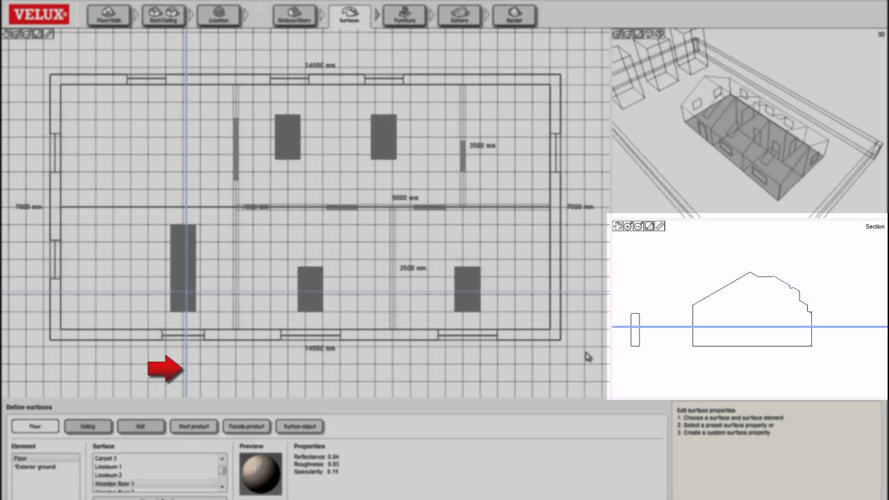 User manual for modelling in VELUX Daylight Visualizer