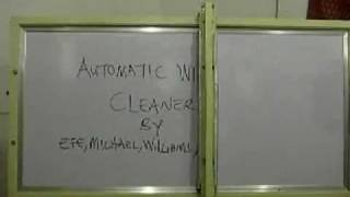 Automatic whiteboard cleaner.