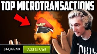 xQc Reacts to Top 10 MOST EXPENSIVE Microtransactions in Video Games | with Chat!