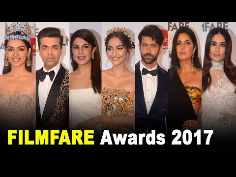 FILMFARE Awards 2017 Red Carpet FULL HD Video | Hrithik,Kareena,Katrina,Shahid,Varun,Jacqueline