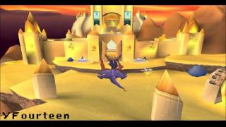 """Spyro 2 Ripto's Rage Texture Hack - """"Ancient Egyptian Tundra"""" (In-game)"""