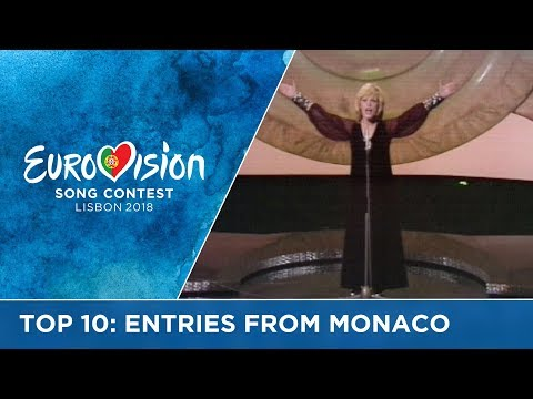 Top 10: Entries from Monaco at the Eurovision Song Contest