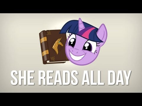 She reads all day