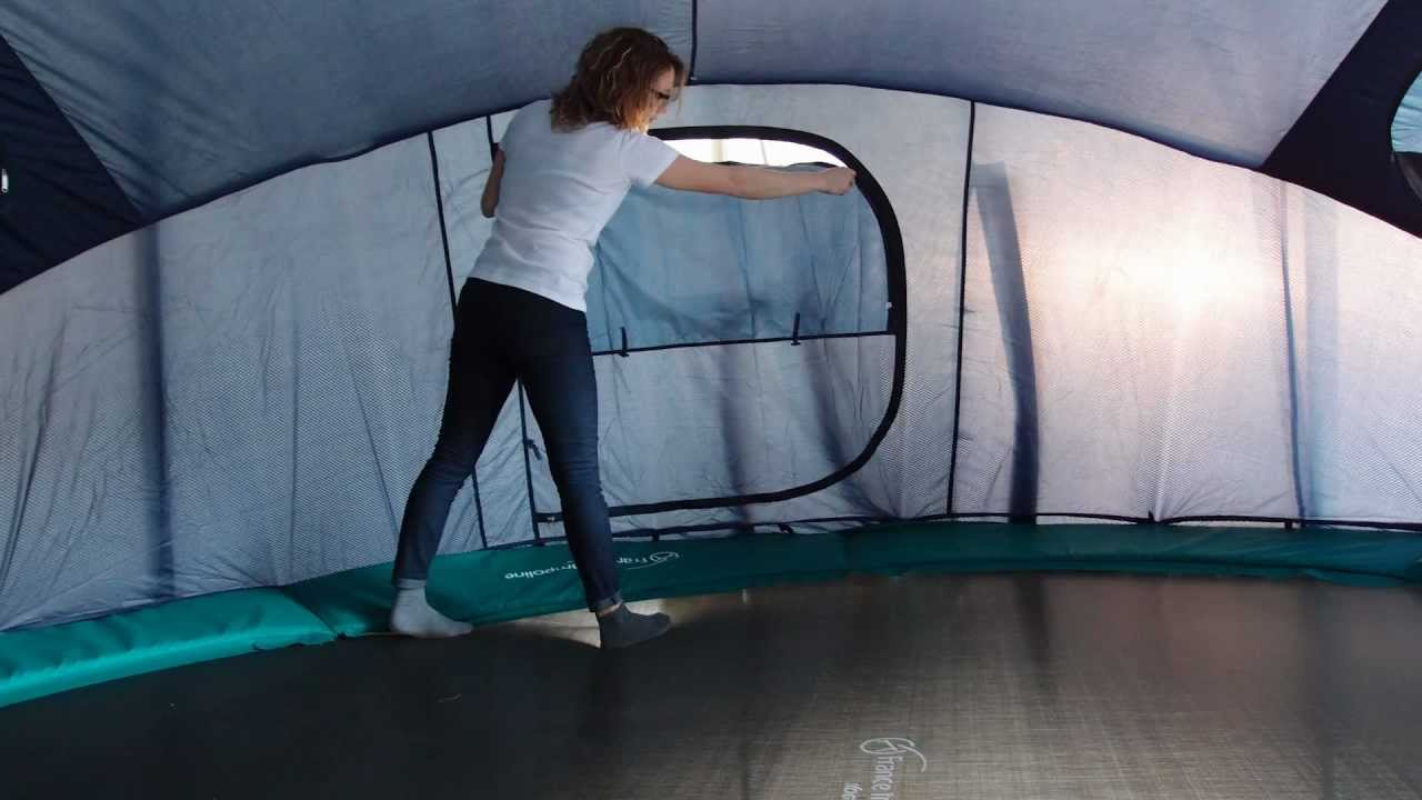 montage de la tente pour trampoline igloo france trampoline youtube. Black Bedroom Furniture Sets. Home Design Ideas