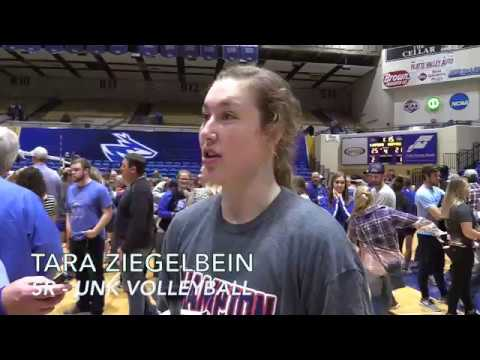 Post Championship match interview with Tara Ziegelbein, UNK