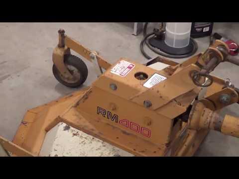 Woods Mower Maintenance - YouTube