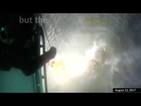 UK coastguard save stranded person in dramatic sea rescue