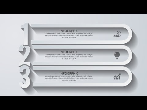 3d modern infographic design template-Illustrator CC Tutorial