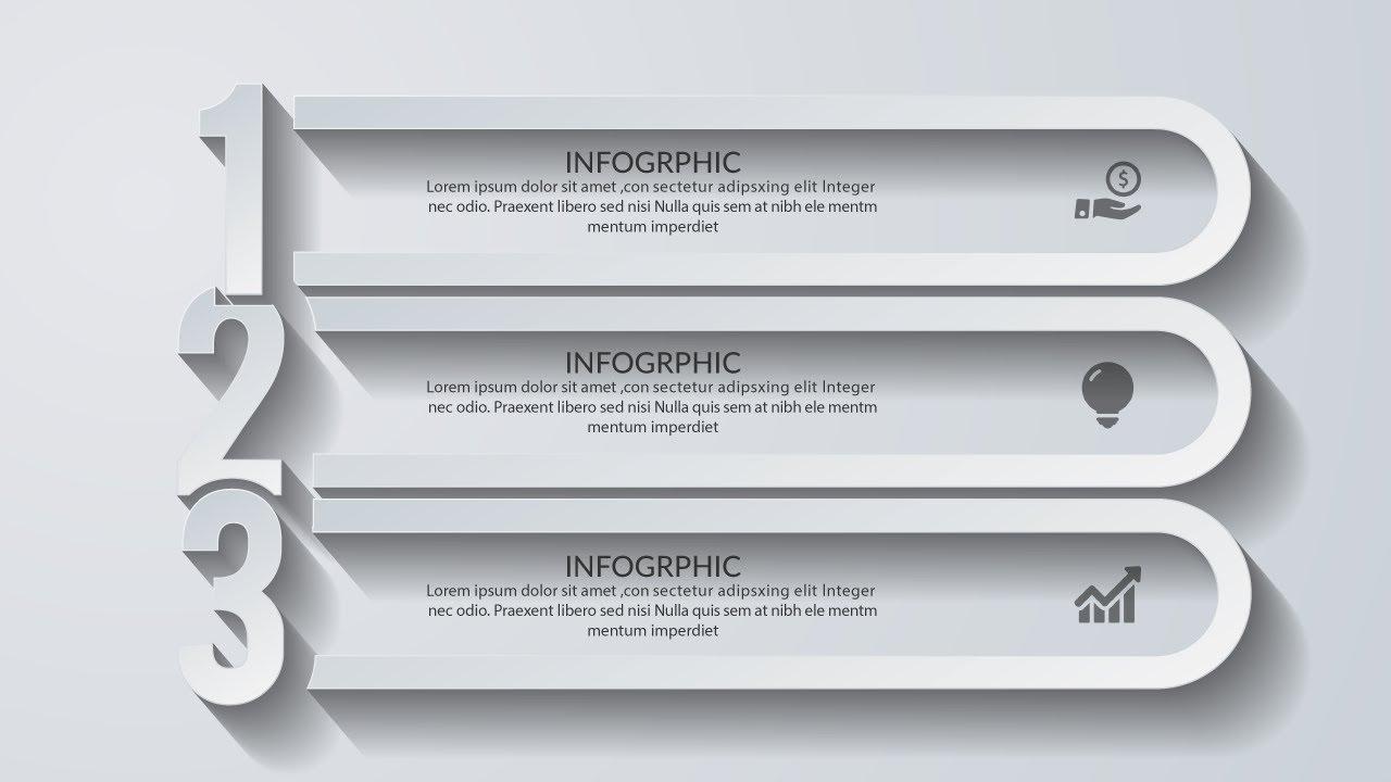 3d modern infographic design template illustrator cc tutorial youtube. Black Bedroom Furniture Sets. Home Design Ideas