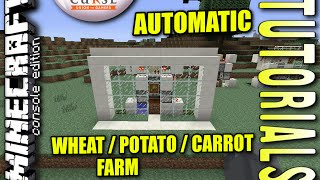 MINECRAFT - PS4 - AUTOMATIC FARMING MACHINE - HOW TO - TUTORIAL ( PS3 / XBOX / PC / VITA ) WII
