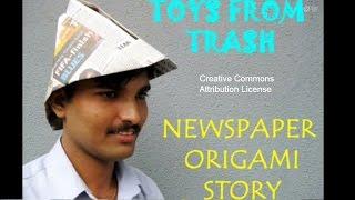 Newspaper Origami Story | Malayalam