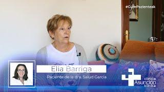 """Elia Barriga: """"La dra. Salud García se deshizo para que me curasen lo mas pronto posible"""""""